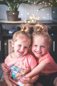 Adoption for me? Two kids hugging